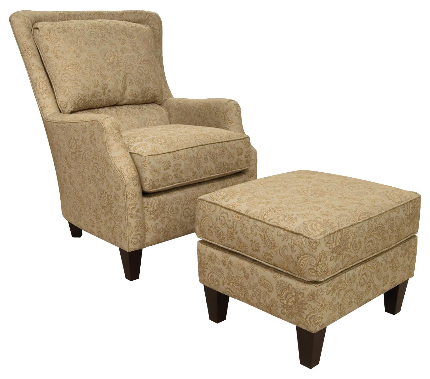 England Loren Chair and Ottoman - Item Number: Loren 2 PC
