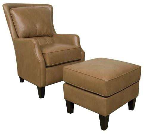 England Louis Upholstered Club Chair and Ottoman - Item Number: 2914+7L