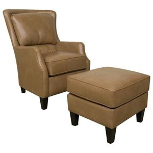 England Louis Upholstered Club Chair and Ottoman