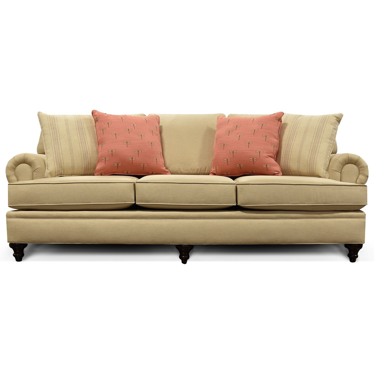 England June 2a05 Traditional Rolled Arm Sofa Furniture