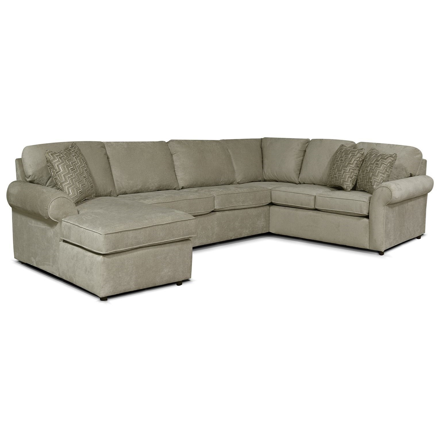 Magnificent Malibu 5 6 Seat Left Side Chaise Sectional By England At Gill Brothers Furniture Ncnpc Chair Design For Home Ncnpcorg