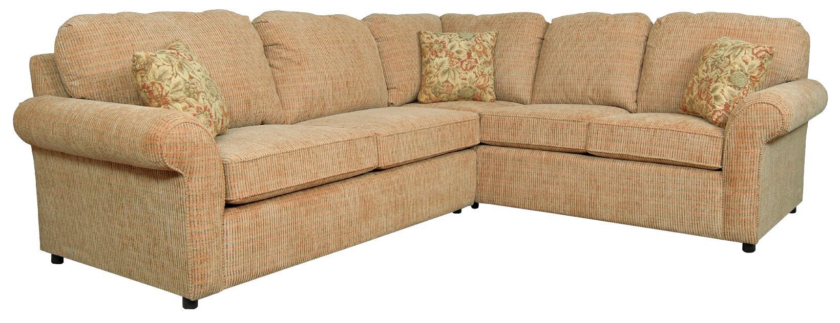 England Malibu 4-5 Seat Corner Sectional Sofa - Item Number: 2400-24+63