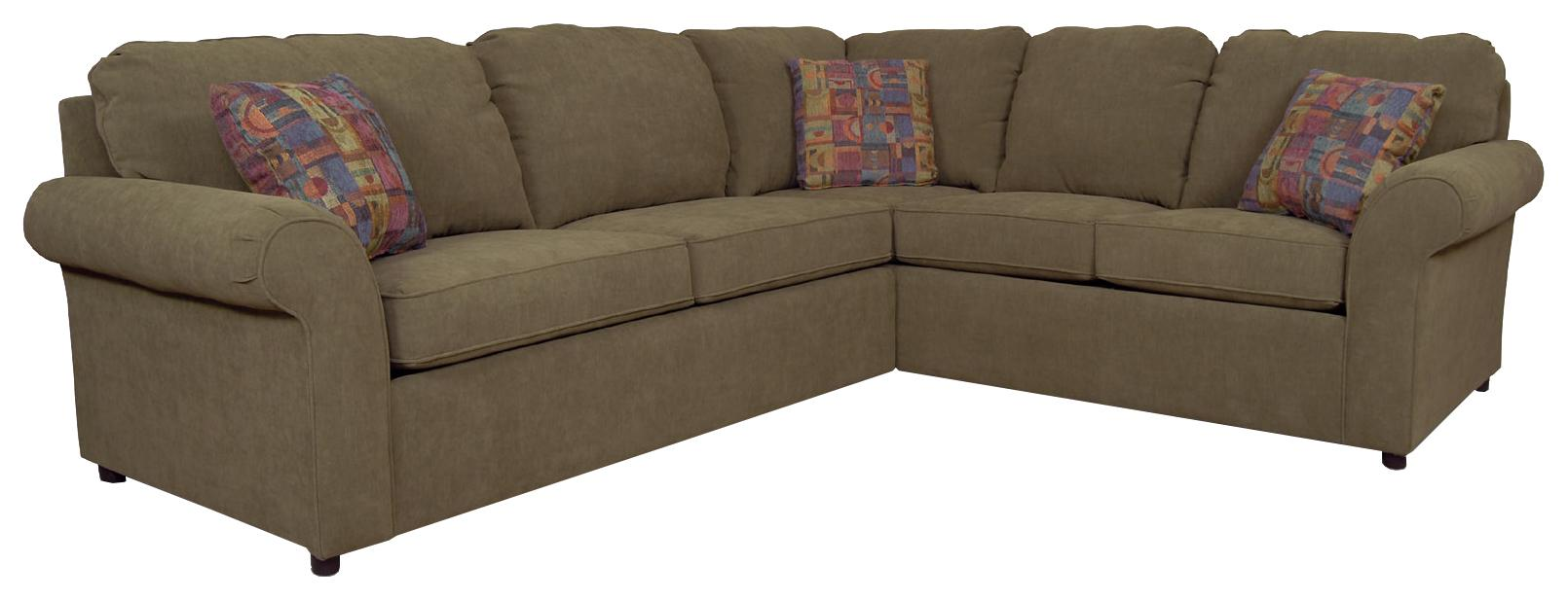 England Malibu 4-5 Seat Corner Sectional with Sleeper ...