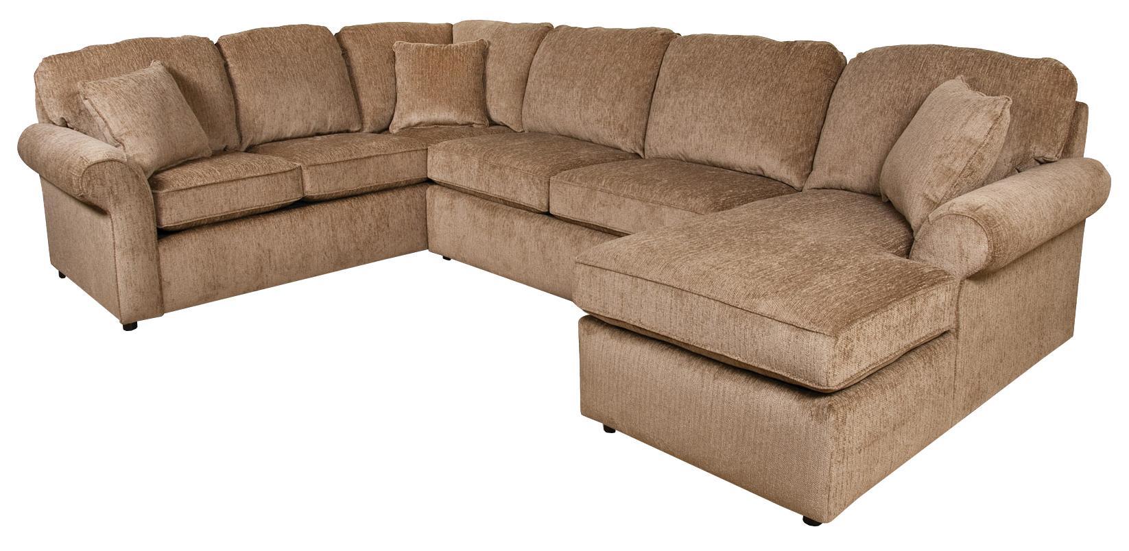 England Malibu 5 6 Seat Right Side Chaise Sectional Sofa