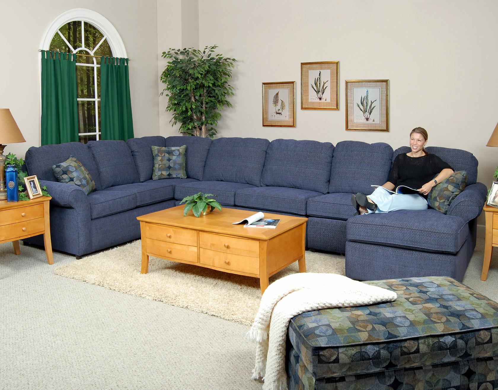 England Malibu 6-7 Seat (right side) Chaise Sectional Sofa ...