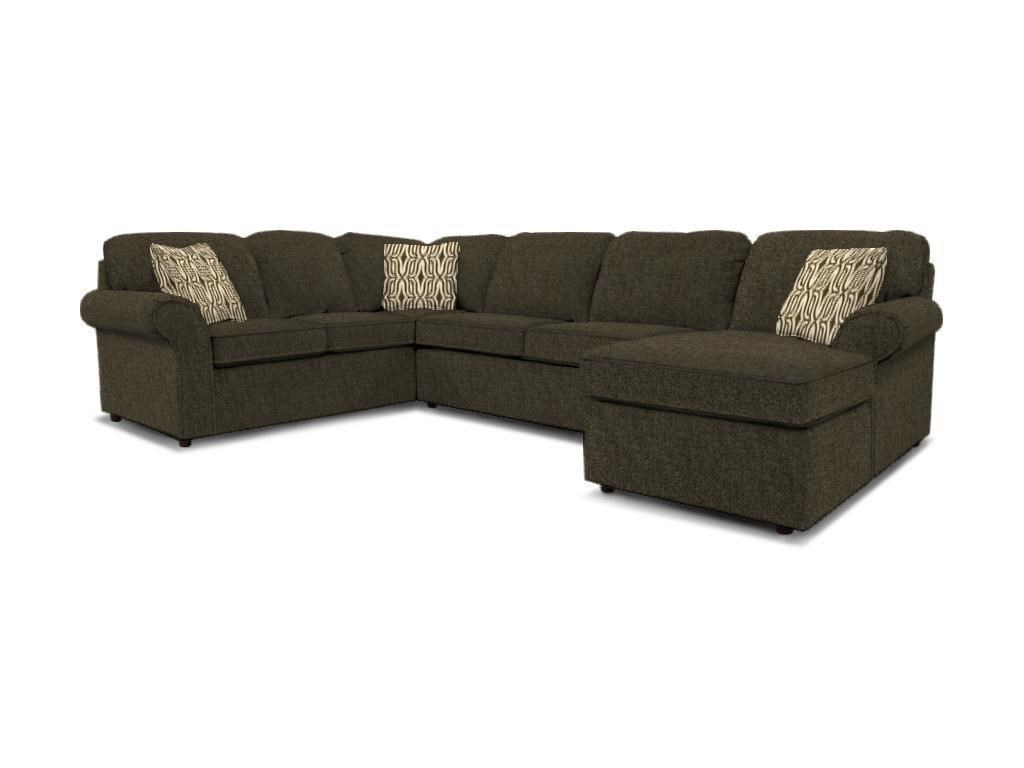England Malibu 5-6 Seat (right side) Chaise Sectional - Item Number: 2400-64+40+05-ds