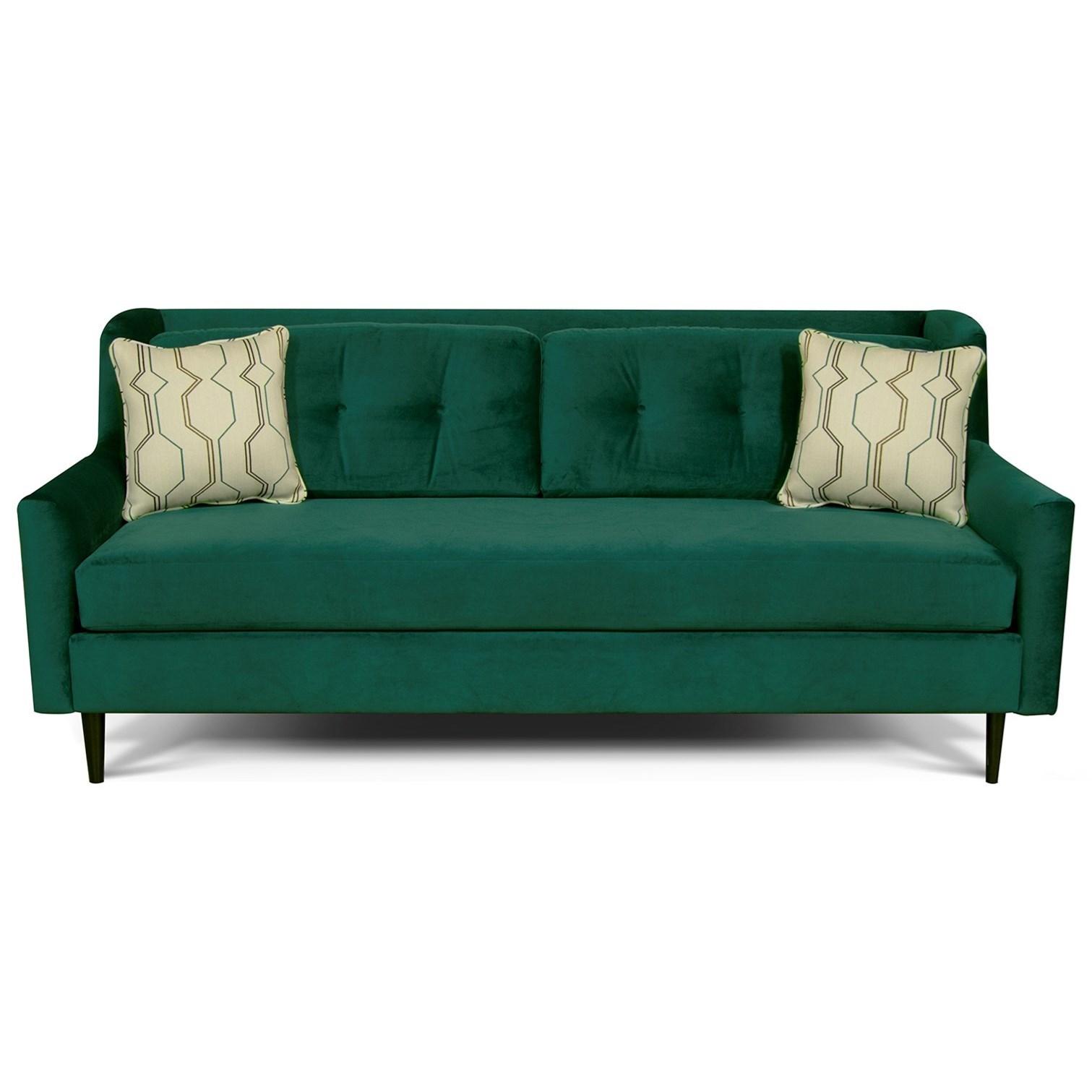 England Gramercy Park Sofa - Item Number: 5G05-Vette-Prussian