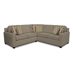 England Metromix - River West Sectional Sofa with Four Seats