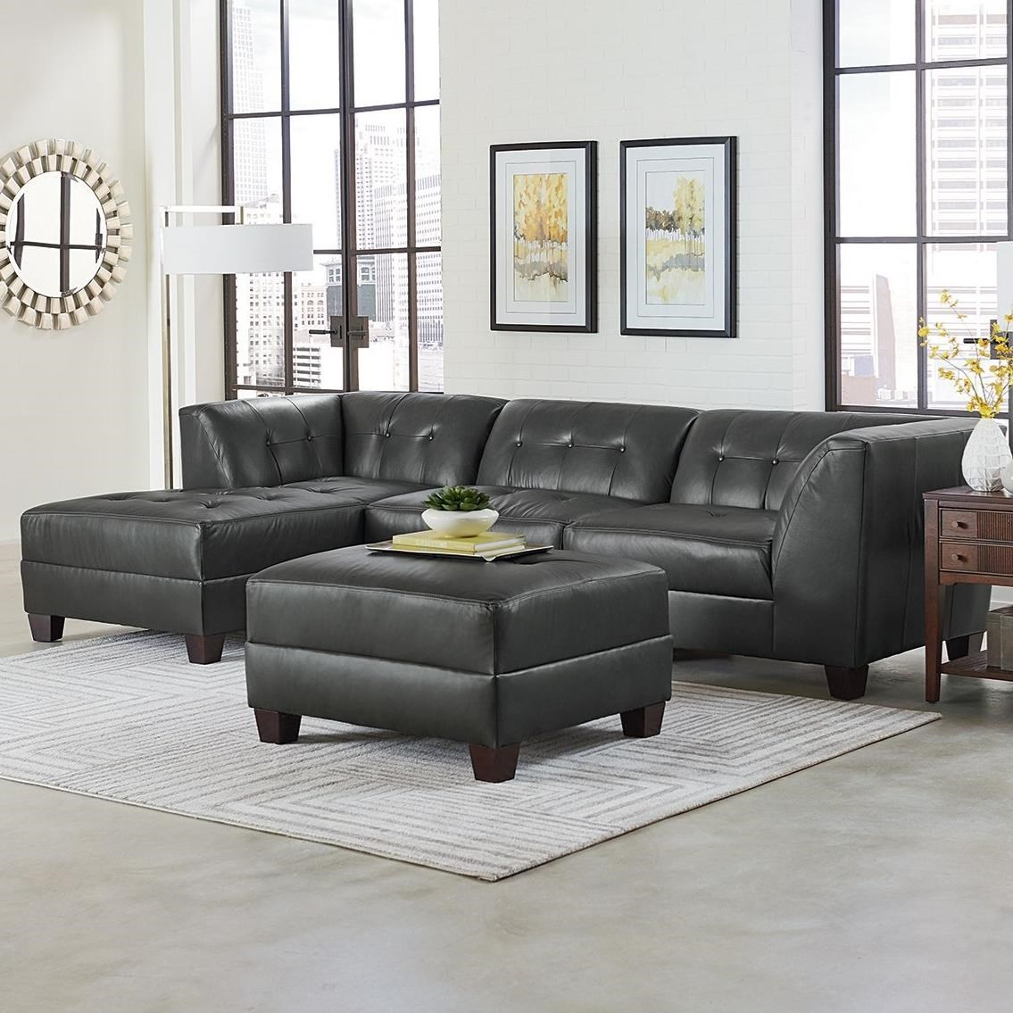 England Miller Three Piece Sectional Sofa with Chaise ...