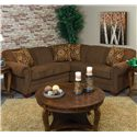 England Monroe 2pc LAF Loveseat Sectional - Item Number: 1430-28+63