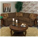 England Monroe 2pc LAF Sofa Sectional - Item Number: 1430-64+27