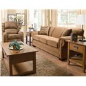 England Monroe Traditional Queen Sleeper Sofa - Shown in Living Room Setting