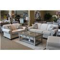 England Monroe Grande Linen Sofa & Loveseat - Item Number: GRP-143X-LINEN-SL