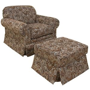 England Nancy Chair and Ottoman