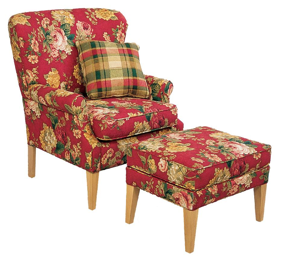 England Natalie Chair and Ottoman - Item Number: 1304+1307