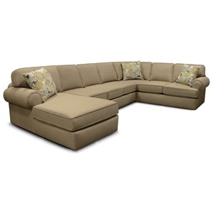 England Norbit 4-Piece Sectional with Chaise