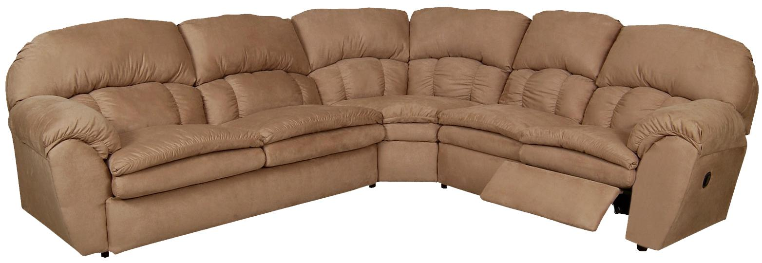 England Oakland Reclining Sectional Sofa - Item Number: 7200-50+22+59