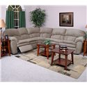 England Oakland 3 Piece Reclining Sectional Sofa with Right Arm Sleeper - Shown in Living Room Setting