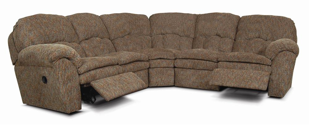 England Oakland Upholstered Reclining Sectional - Item Number: 720022+59+60