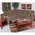 England Oakland Upholstered Reclining Sectional - Shown in Living Room Setting