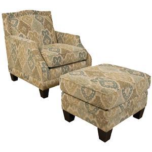 England Paige Chair and Ottoman