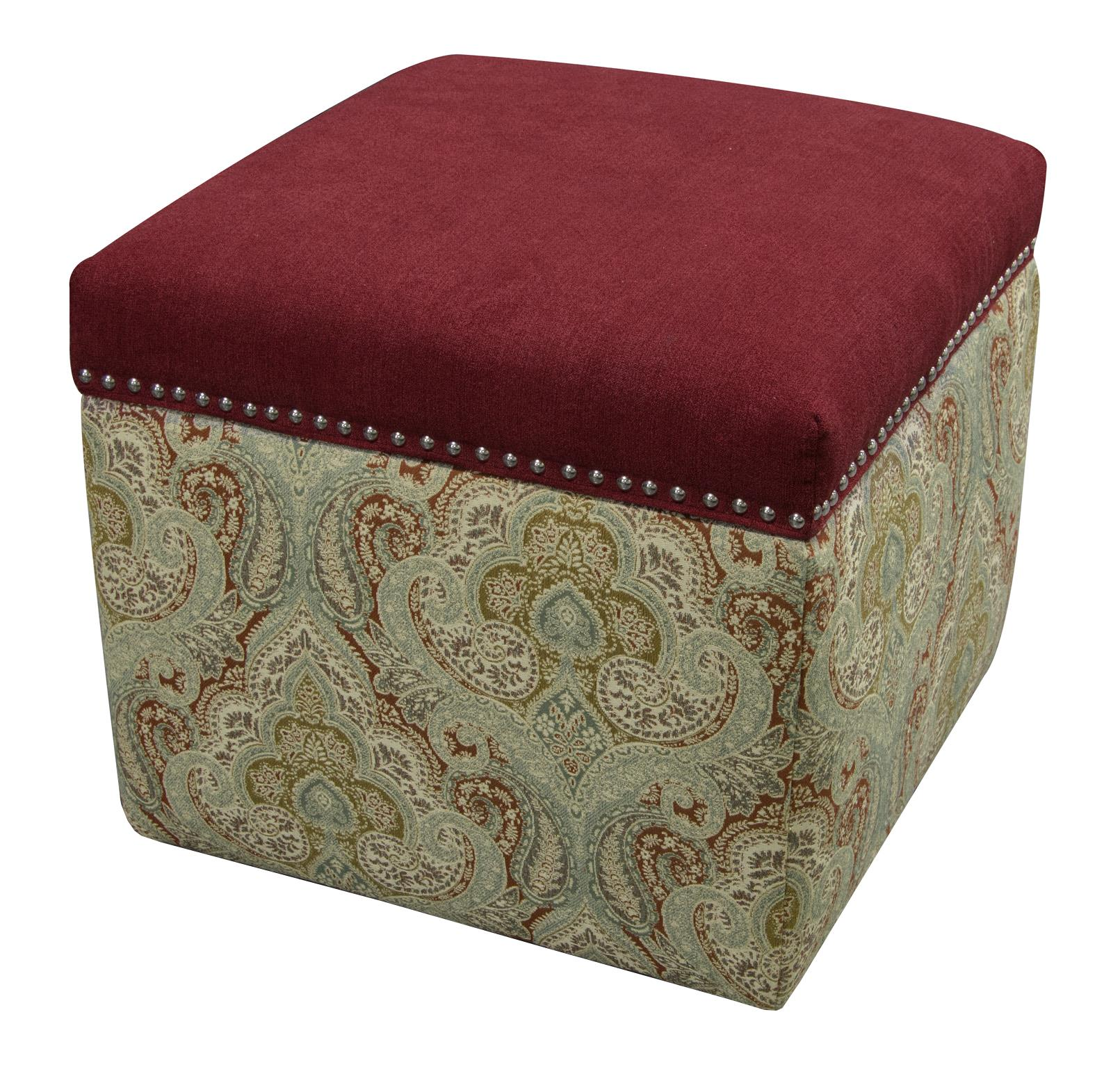 England Parson Storage Ottoman with Nailhead Trim - Item Number: 2F0081N-6940
