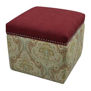 England Parson Storage Ottoman with Nailhead Trim