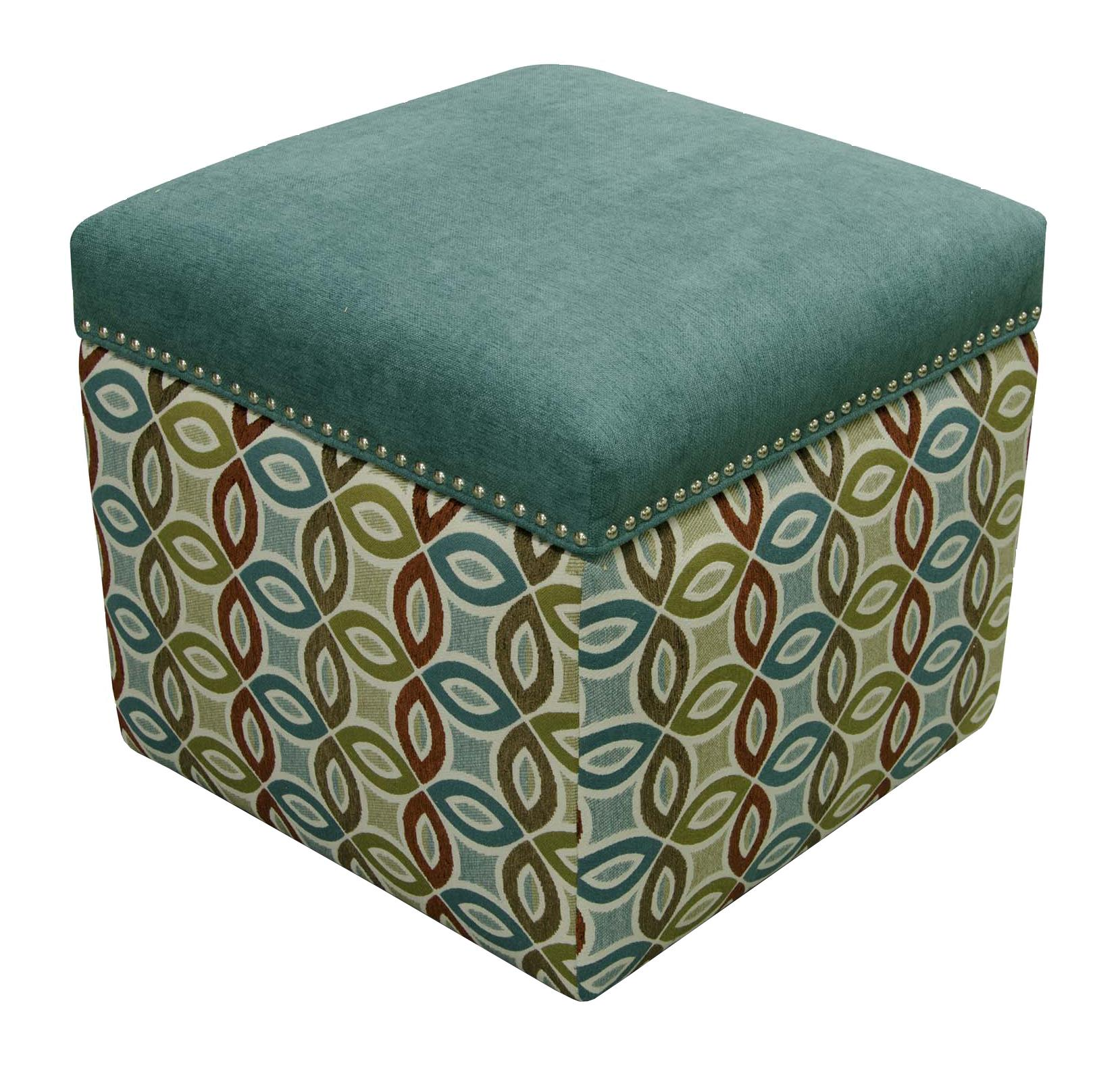 England Parson Storage Ottoman with Nailhead Trim - Item Number: 2F0081N-7346