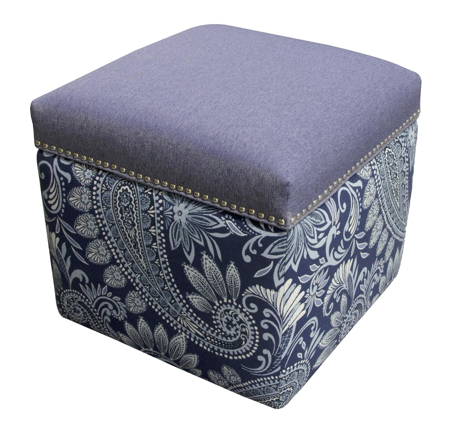England Parson Storage Ottoman with Nailhead Trim - Item Number: 2F0081N-7357