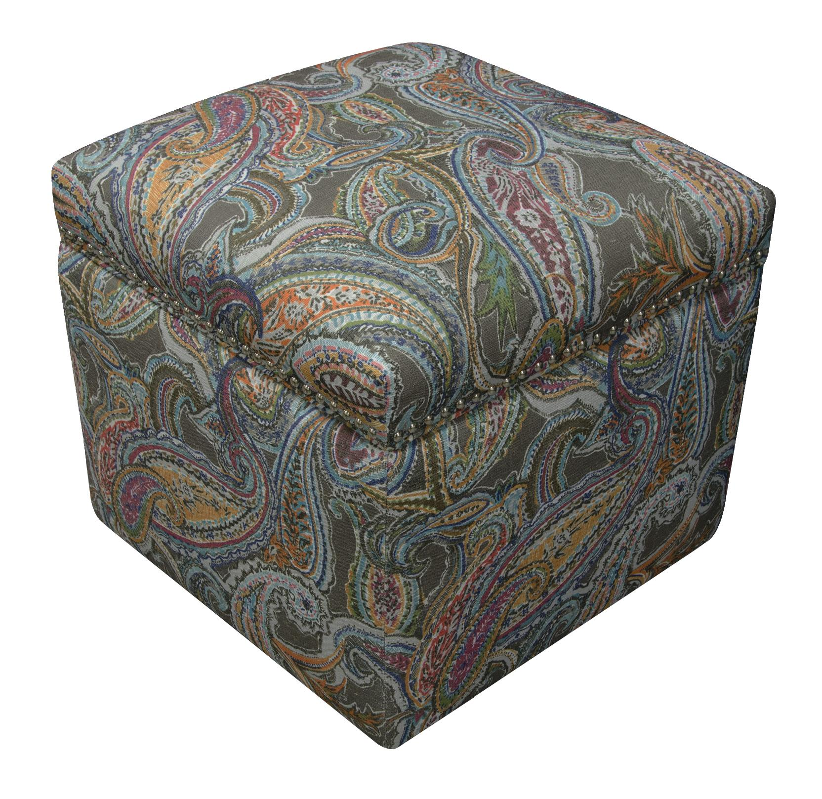 England Parson Storage Ottoman with Nailhead Trim - Item Number: 2F0081N-7373