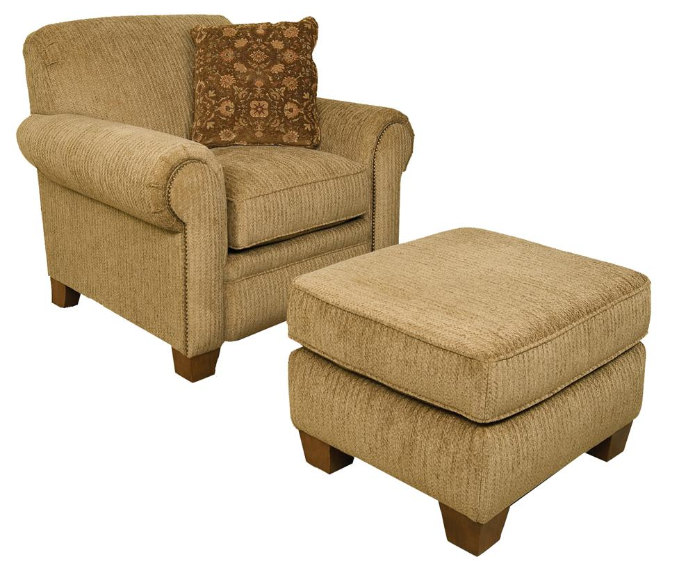 England Philip Casual Chair And Ottoman Suburban