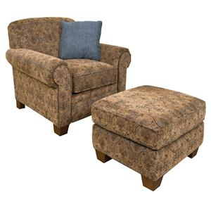 England Philip Chair and Ottoman