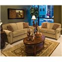 England Philip Casual Loveseat - Shown With Sofa