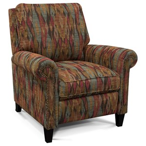 England Price High-Leg Reclining Chair with Nailheads