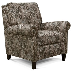 High-Leg Reclining Chair with Nailheads
