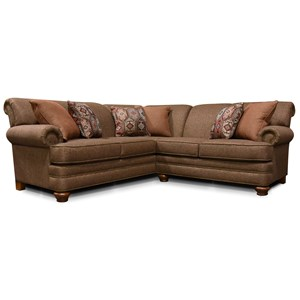 England Reed 2-Piece Sectional with Nailhead Trim