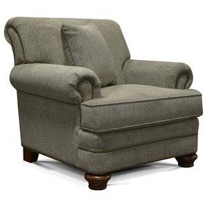 England Reed Chair with Nailhead Trim