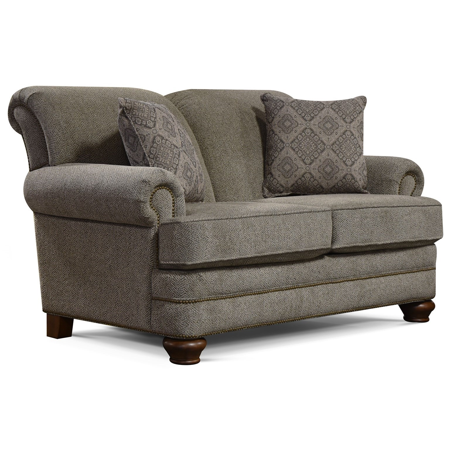 England Reed 5q06n Traditional Loveseat With Nailhead Trim Dunk Amp Bright Furniture