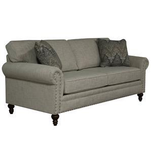 Sofa with Nail Head Trim