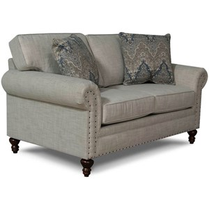 England Renea Loveseat w/ Nail Head Trim