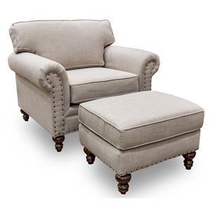 England Renea Chair & Ottoman