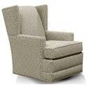 England Reynolds Swivel Chair - Item Number: 470-69N-Zuni Pewter