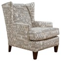 England Reynolds Upholstered Wing Chair - Item Number: 474-Peralta Linen