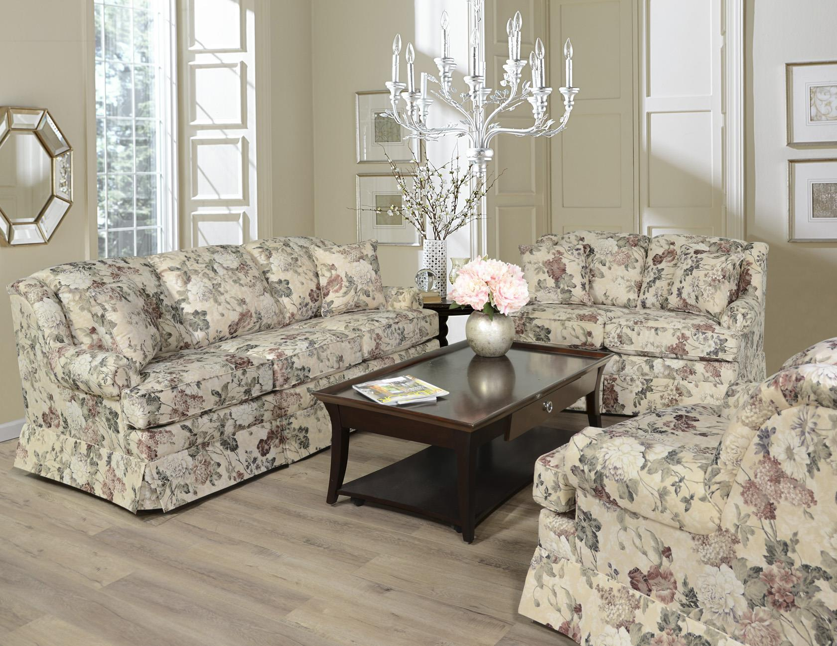 England Rochelle Skirted Sofa Virginia Furniture Market