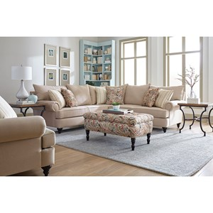 England Rosalie Stationary Living Room Group