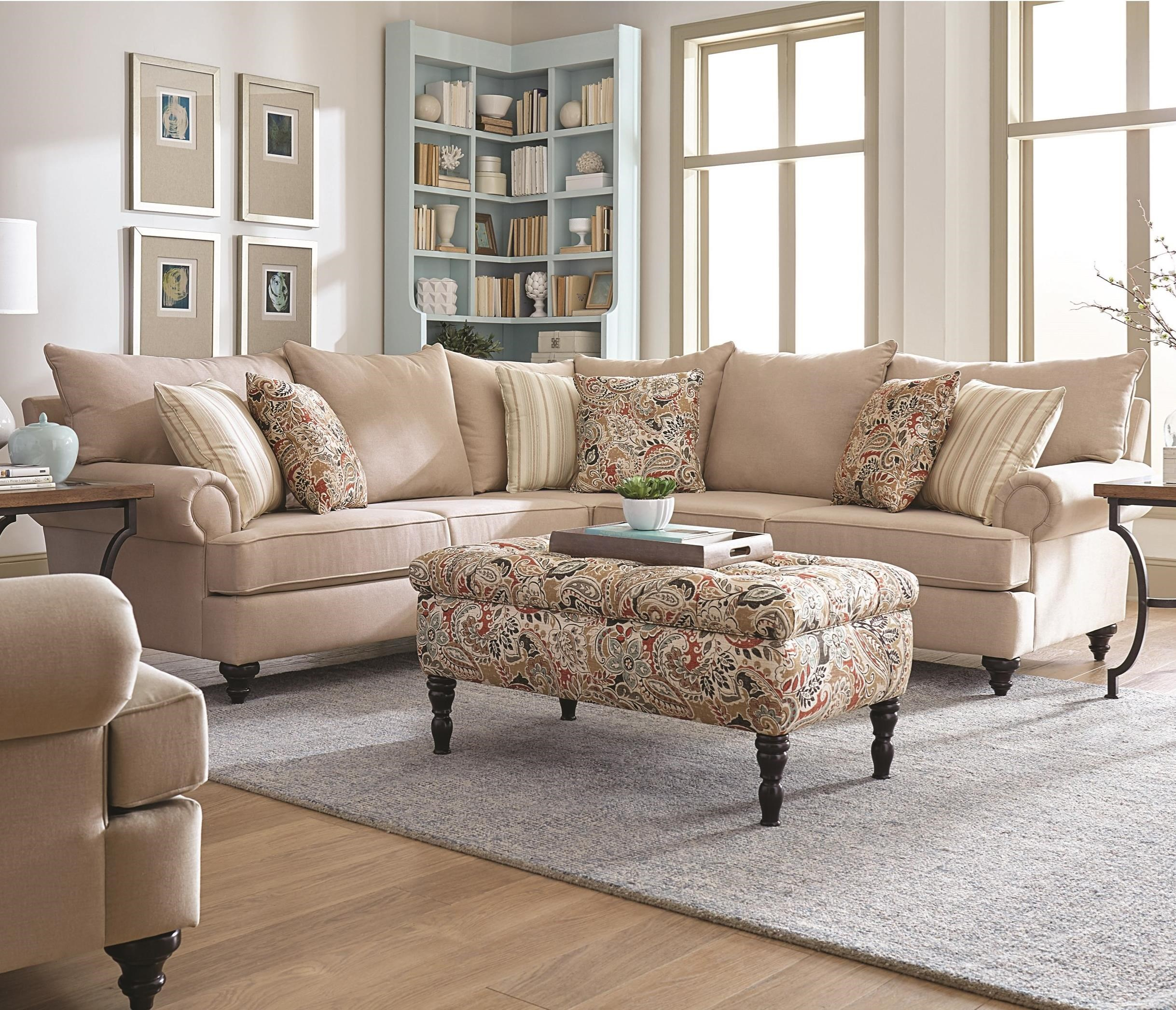 England Rosalie Sectional Sofa Dunk Amp Bright Furniture