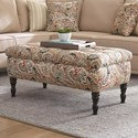 England Rosalie Ottoman - Item Number: 4Y07-Waleview-Coral