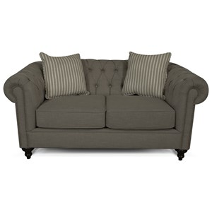 Loveseat with Button Tufted Back