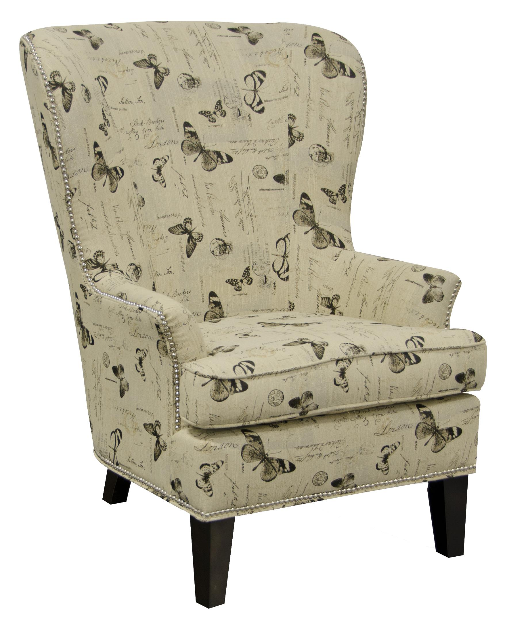 England Saylor Wing Chair With Nailheads And Contemporary