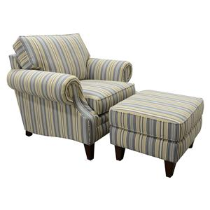 England Seals Chair and Ottoman